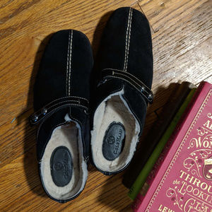 Cole Haan Meribel Shearling Clog size 8.5 Black